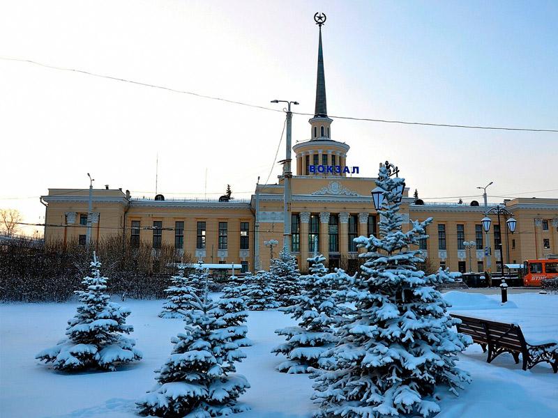 жд вокзал петрозаводск зимой