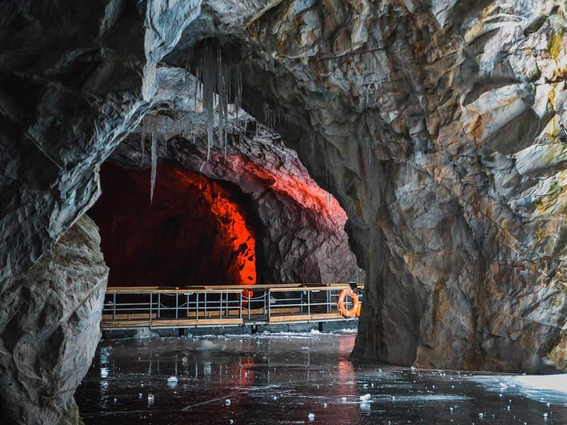 горный парк «Рускеала» зимой