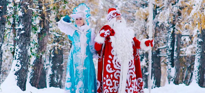 Участие в новогодних гуляниях с Дедом Морозом