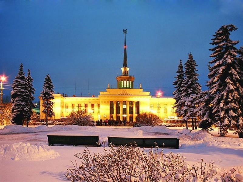 ночное фото Петрозаводска