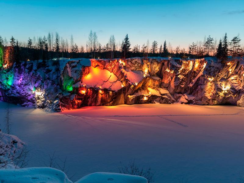 Эксклюзивная шоу-программа и банкет в горном парке Рускеала