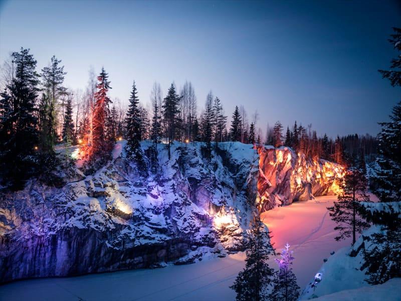Посещение горного парка Рускеала фото»