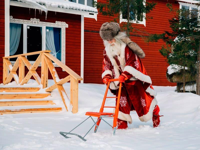 Уличные гуляния с карельским Дедом Морозом Талви Укко