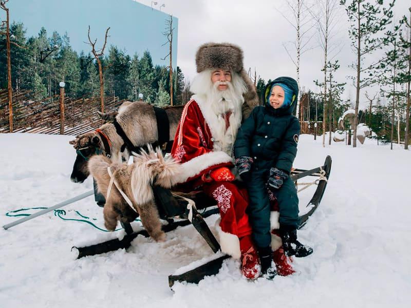 Визит в резиденцию карельского Деда Мороза Талви Укко