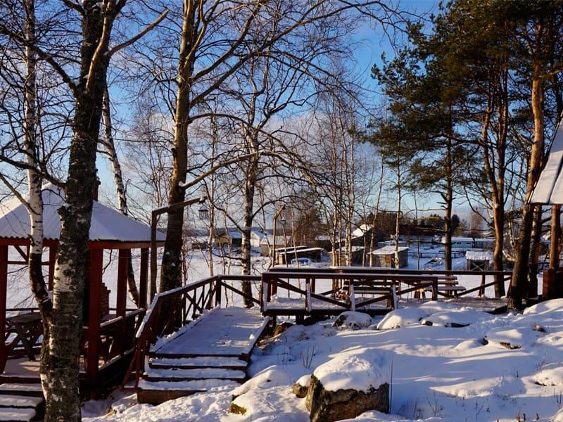 зима на турбазе длинный берег фото